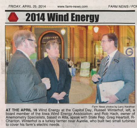 Rob Hach and Russ Winterhoff Speaking to Rep Heartsill at the Capital on April 16th